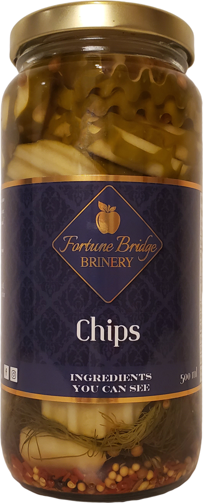 fortune bridge brinery - dill pickle chips - pei