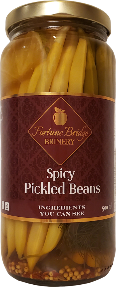 fortune bridge brinery - spicy pickled beans - pei