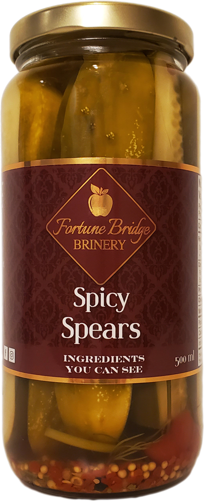 fortune bridge brinery - spicy dill pickles - spears - pei
