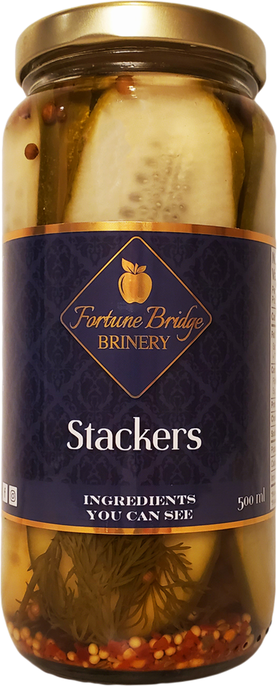 fortune bridge brinery - dill pickle stackers - pei